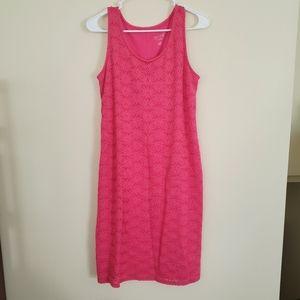 Isabel maternity xs pink lace detail dress
